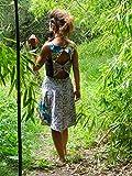 Robe femme tissu wax fleur de mariage avec dos nu
