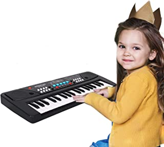 M SANMERSEN Electronic Toy Piano 37 Keys Kids Piano Keyboard Digital Piano for Kids Learning Keyboard with Microphone for ...