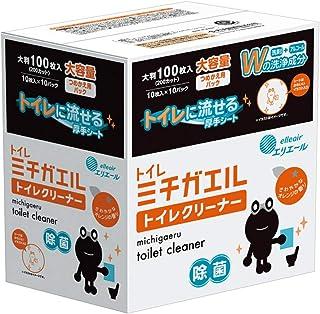 エリエール ミチガエル トイレクリーナー つめかえ用 100枚(10枚×10パック) オレンジの香り
