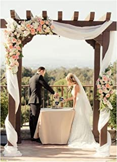 Romantic Wedding Drapes Ivory Chiffon Party Backdrop Curtain 9.8ftx10ft Long Soft Backdrop Drapes for Photography