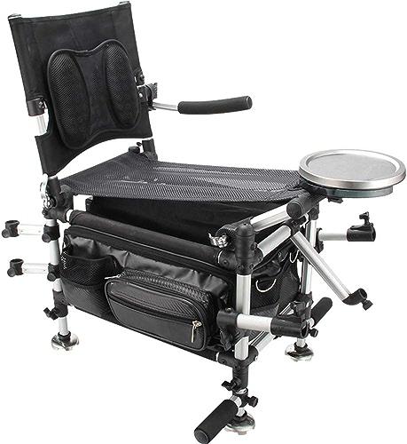 ZDYWANG Chaise de pêche Boîte de pêche Deux en Un Multi-Fonction Pliable Portable Jambe de Levage Jambe Chaise de pêche Pied Sauvage Chaise de pêche