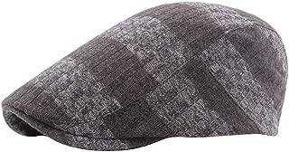 JAUROUXIYUJI New 2018 Summer Beret Caps for Men Women Vintage News boy Cap Cabbie Gatsby Linen Outdoor Hats Brand Sun Hat Unisex (Color : Coffee, Size : 56-58CM)