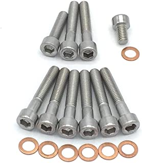 Simson S51 SR50 SR80 Motor Schrauben Satz Zylinderschrauben mit Innensechskant aus Edelstahl, 17 teilig