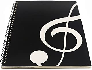 Blank Sheet Music Composition Manuscript Staff Paper Art Music Notebook Black 50 Pages 26x19cm (Black Music)