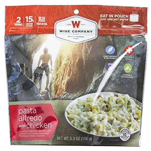 Wise Foods Entree Dish Pasta Alfredo with Chicken (2 Servings)