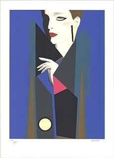 """GERARD RAZZIA Clandestine SIGNED 43.5"""" x 31.5"""" Serigraph 1985 Contemporary Multicolor, Blue, Gray Silkscreen"""