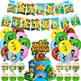 Animal Crossing party supplies Happy Brithday balloon,Cake Topper,Banner,Theme Party Decorations for Kids