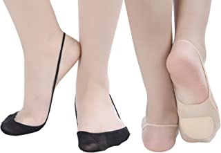 Flammi 6 Pairs Women Ball of Foot Cushion Socks Ultra Low Cut Liner Socks with Sling No Show Padded Half Socks for Heels