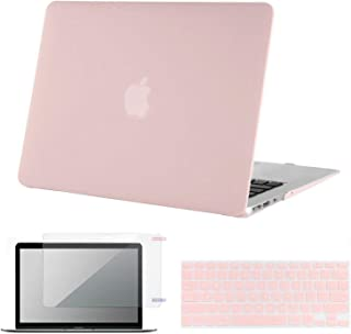 Lacdo MacBook Air 13 Inch Case, Laptop Hard Case Shell Cover with Screen Protector and Keyboard Skin Compatible MacBook Air 13.3