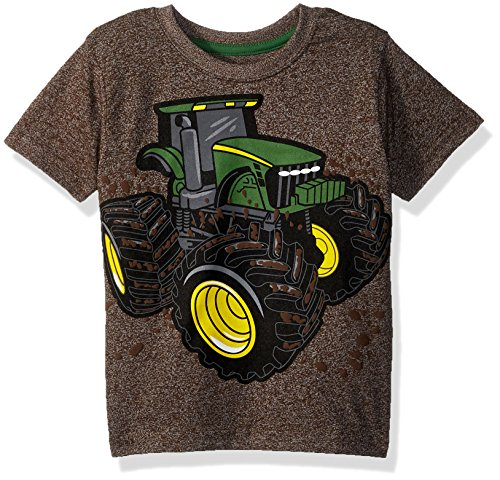 John Deere Boys' Toddler T-Shirt, Brown Heather, 2T