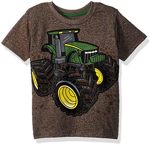 John Deere Boys' Toddler T-Shirt, Brown Heather, 3T