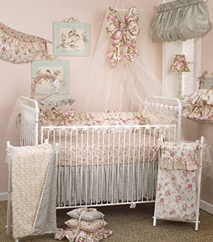 Cotton Tale Designs Tea Party 8 Piece Nursery Crib Bedding Set 100 Cotton Shabby Chic Soft Colorful product image
