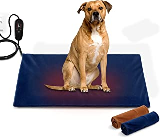 Petscene 75x45cm Extra Large Heated Dog Cat Pad Electric Pet Heating Bed Mat w/Thermal Protection