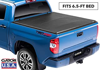 "Gator ETX Soft Tri-Fold Truck Bed Tonneau Cover | 59414 | Fits 2007 - 2013 Toyota Tundra 6` 5"" w/ rail system Bed 