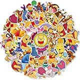 JZLMF Cartoon Winnie The Pooh Graffiti Stickers Luggage Laptop Waterproof Without Leaving Glue Stickers 50 Pcs