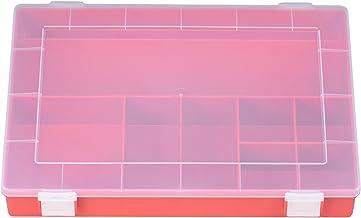 Hünersdorff Cajas de surtido PP CLASSIC, 8 compartimentos 225x335x55 mm, rojo