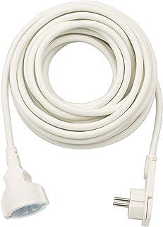Brennenstuhl Qualitäts-Kunststoff-Verlängerungskabel mit Flachstecker Verlängerungskabel flach für innen mit 10m Kabel weiß