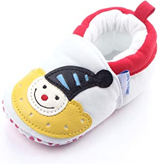 TZOU Baby Shoes with Elastic Mouth and Soft Sole for 0-1Y Children Baby Shower Gifts White Rainbow 13cm