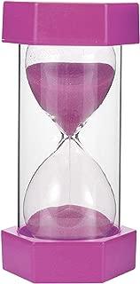 5/10/15/20/30min Sandglass Hourglass Sand Clock Egg Kitchen Timer Supplies Kid Game Gift,Purple,30min
