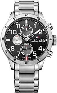 Tommy Hilfiger Mens Quartz Watch, Analog Display and Stainless Steel Strap 1791141