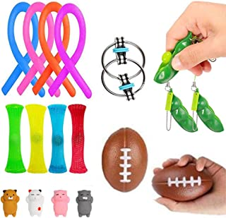 18 Pack Sensory Fidget Toy Set, Stress Relief and Anti-Anxiety Toys for Kids Adults Finger Sensory Toys Assortment for Aut...