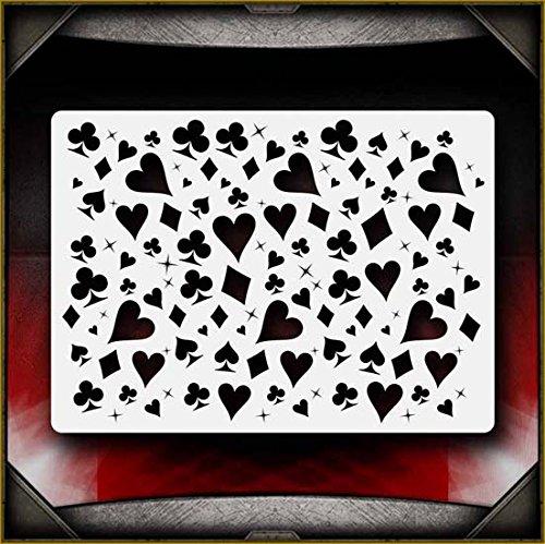 Card Suite AirSick Airbrush Stencil Template