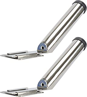 Amarine-made Set of 2 Stainless Steel Slide Mount Removable Fishing Rod Holder