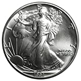 American Silver Eagle $1 Legal US Tender .999 Fine Silver Now with our Certificate of Authenticity! Dated 1991