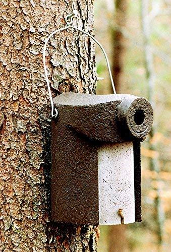 Schwegler Naturschutzprodukt Vogel Nistkasten Nisthöhle Vogelhöhle Typ 3SV oval Flugloch 32 x 45 mm mit Marderschutz aus Holzbeton Höhe 28 cm