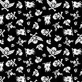 11,99€/m 100x160cm Totenkopf Pirat 100% Baumwolle