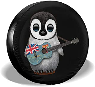 Cute Penguins Fit For For Jeep,Trailer Suv 14 Inch Waterproof Universal Wheel Covers Rv Spare Tire Cover