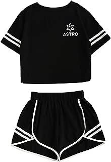 Kpop Astro 2PCS T-Shirts+Hot Pants MJ Rocky Sanha Jinjin Outfits