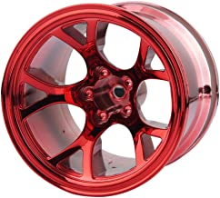 Boliduo 4PCS 1/10 Monster Truck Plastic Wheel Rim for RC Car 1:10 Monster Truck Bigfoot Traxxas HIMOTO HSP HPI Tamiya Kyosho (Red)