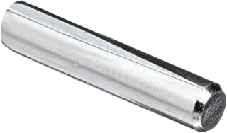 Low Carbon Steel Dowel Pin, Zinc Plated Finish, Grooved Type A, Meets ASME B18.8.2, 1/4