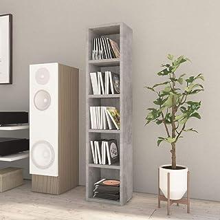 Tidyard Estantería de CDs hormigón aglomerado Gris con 5 Compartimentos 21x16x93,5cm