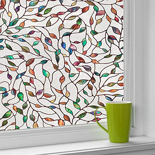 Piero Glasfolie Privacy Glas-in-lood Glasfolie Zelfklevende Glassticker Statisch Plak Vensterpapier, 30x200cm