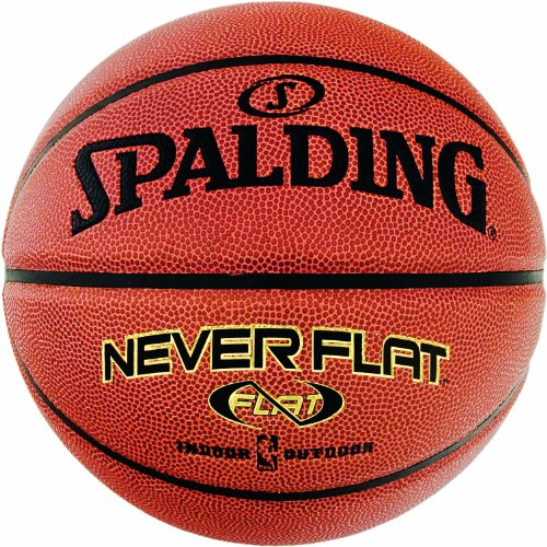 Spalding Basketball NBA Neverflat Indoor/Outdoor 74-096ZD, Orange, 7