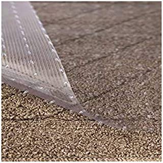 Resilia - Clear Vinyl Plastic Floor Runner/Protector for Deep Pile Carpet - Non-Skid Decorative Pattern, (27 Inches Wide x 6 Feet Long)