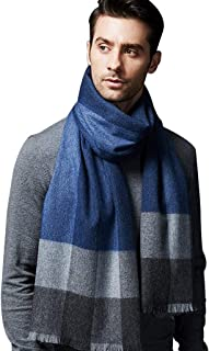 Accessories Cashmere scarf mens plaid color winter cashmere thick scarf long Korean version of the wild high-end simple sc...