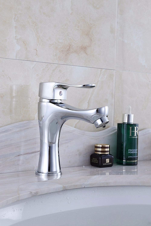 Oudan Basin Mixer Tap Bathroom Sink Faucet basin faucet, chrome plated basin faucet pedestal hot cold dual-use KITCHEN FAUCET