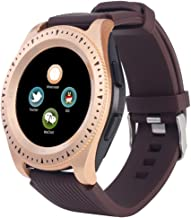 iFOMO Smartwatch for Android Phones Men Women Kids Color Touchscreen GPS Tracker Waterproof Camera Bluetooth Gold one Size