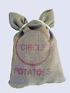 Handley House Dollhouse Miniature Brown Fabric Sack of Potatoes