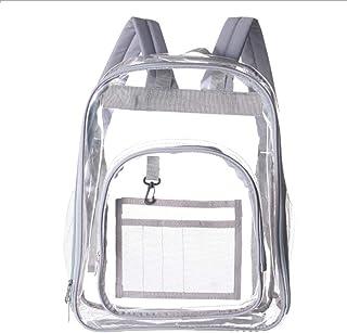 EKUIZAI Clear Backpack for School Waterproof Transparent Bookbag Large Travel Bags Plastic Backpacks Kids School Bags