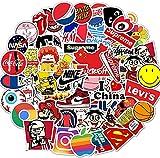 Afufu Adesivi Computer 100-PCS Stickers Pack di Bottiglia d'Acqua, Casco, Vinili Adesivi PC Portatile, Bambini, Adolescenti, Adulti, Auto, Moto, Bicicletta, Skateboard