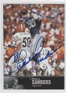 Charlie Sanders (Football Card) 1997 Upper Deck NFL Legends - Autographs #AL-164
