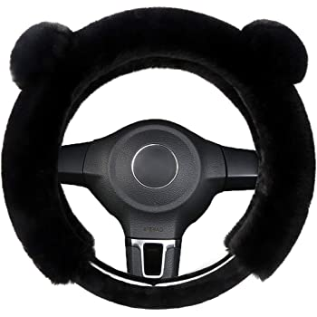 Chinchilla Yourshops Plush Cute Cartoon Steering Wheel Cover for Winter 1 Pack