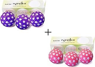 Navika Golf Balls- White Polka Dots on Pink & Purple Golf Balls Combo (6-Pack)