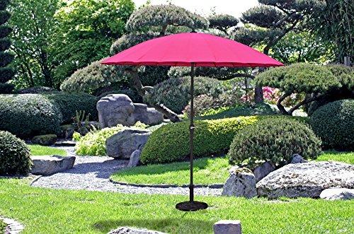 Garden Pleasure Sonnenschirm Ø 255 cm Gartenschirm Kurbelschirm Schirm pink