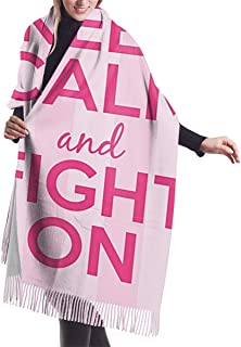 Pink Ribbon Flag Breast Cancer Awareness Soft Shawl Scarf Cashmere Winter Scarf For Women Men