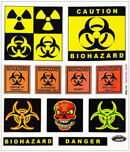 4R Quattroerre.it 9021 Adesivi Sticker Biohazard Danger